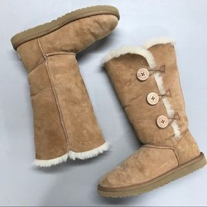 Ugg Bailey Boot Triplet Button Shearling Chestnut